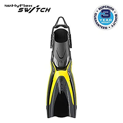 TUSA SF-0104 Hyflex Switch Scuba Diving Fins, Large, Flash Yellow