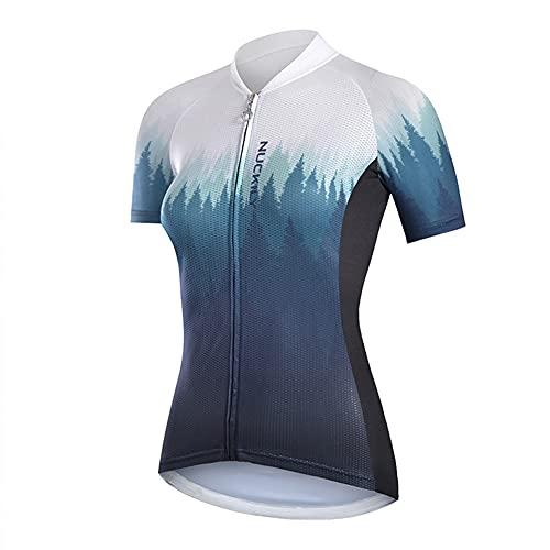 LALEO Maillot de Ciclismo, Camiseta Ropa Paseo Manga Corta,Top Ciclismo Bicicleta Maillots,Transpirable y Que Absorbe El Sudor,Secado Rápido,Mountain Bike/MTB Maillots