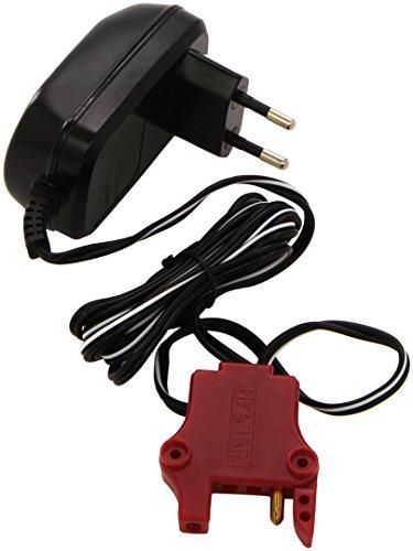 FEBER - Cargador 12 V 1AH, oficial de FEBER válido para baterías de vehículos eléctricos de juguete, compatible con coches, motos, quads y trimotos, de 12 Voltios y 1 Amperio, FAMOSA (800003111)