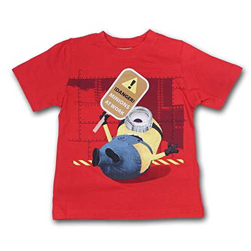 Minions Ich einfach Unverbesserlich Kinder Shirt T-Shirt (Rot, 110-116 (5-6 Jahre))