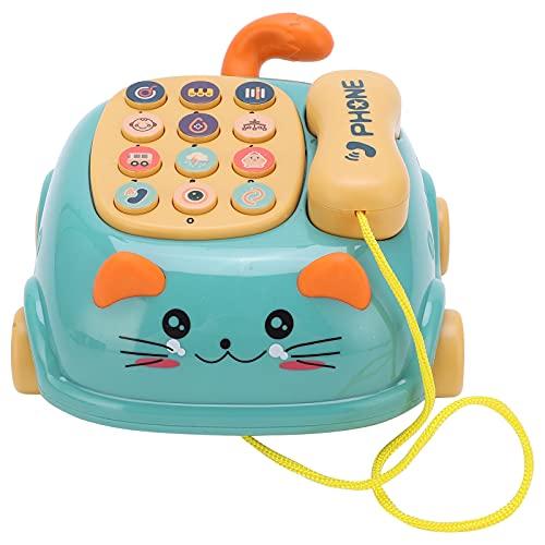 Voluxe Baby Handy Autotelefon, 16 Verschiedene Funktionen Simulation Katzentelefon Auto Handy für Spielzeug(Grün)