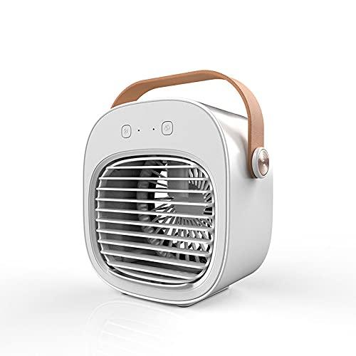 Quiet Ventilador Mesa,Ajustable Portátil 3 Modos Ventilación Ventilador Para Oficina Hogar Dormitorios Viaje Acampar,Blanco