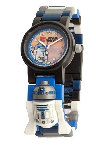 Armbanduhr Lego Star Wars - R2D2, inklusive 12 zusätzlichen Armbandgliedern, Lego Minifigur im Armband integriert, analoges Ziffernblatt, kratzfestes Acrylglas