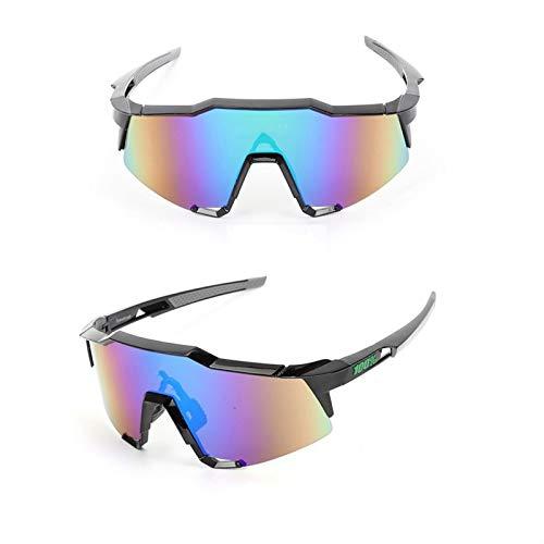HBGGGGG Gafas de Sol polarizadas Gafas de Deportes Riding Vasos TR90 Ultra Ligero Marco Y PC Lente de la protección UV400 for los Hombres y Las Mujeres (Color : A)