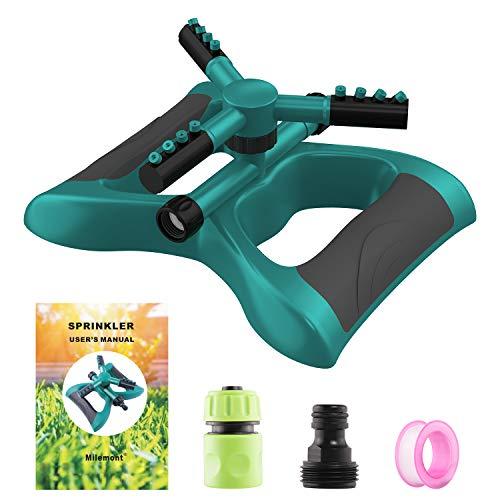 Milemont Garden Sprinkler Lawn Irrigation System 360 Degree Rotating Lawn Sprinkler Automatic Garden Water Sprinklers