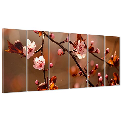 Cuadro sobre lienzo Canvas–ConKrea–Listo para colgar–Árbol Cerezo En Flor–Japón japonés Sakura