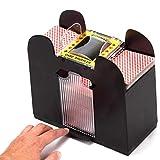 Eurobuy Automatic Playing Card Shuffler, 4 Deck Playing Card Shuffler Electric Battery Operated Shuffler Poker Shuffling Machine for Home Party Club Bridge Game Poker Games