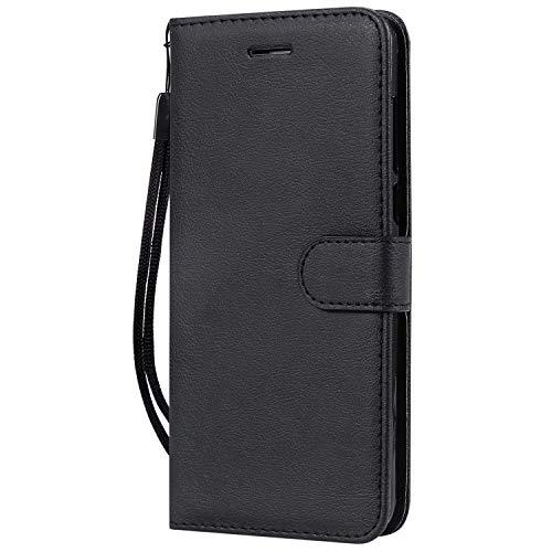 Hülle für Nokia 3.1Plus Hülle Handyhülle [Standfunktion] [Kartenfach] Tasche Flip Hülle Cover Etui Schutzhülle lederhülle flip case für Nokia 3.1 Plus - DEKT051453 Schwarz