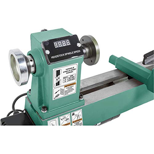 """Grizzly Industrial T25926 - 10"""" x 18"""" Variable-Speed Benchtop Wood Lathe"""