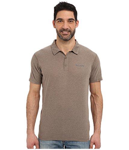 Columbia Men's Silver Ridge Zero Polo Shirt, Wet Sand Heather, XL