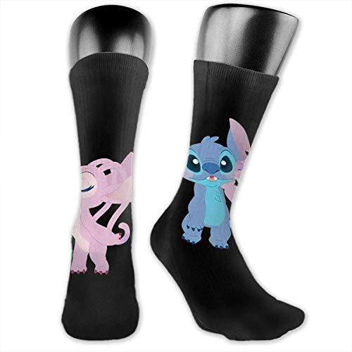 Stitch met vriendin Compressie Sokken, Voetbalsokken, hoge sokken, lange sokken, sport outdoor voor mannen en vrouwen