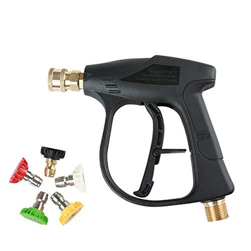 DaMohony Pistola A Spruzzo Per Idropulitrice Ad Alta Pressione Con Ugelli A 5 Colori Per La Pulizia Dell'Auto. (M22 Raccordo 5 Punte Ugello 4000 Psi)