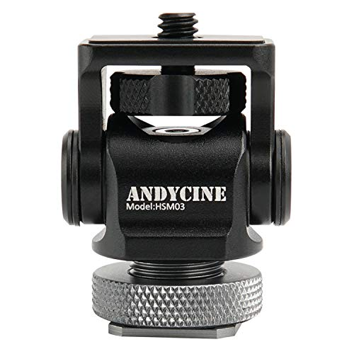 ANDYCINE Field Monitor Mount Vlogger Fild Monitor Holder Tilt 176 Degree Swivel 360 Degree with Screw Fixture Camera EDC Tools Box for 5 /7inch Monitor(Version 1.3)