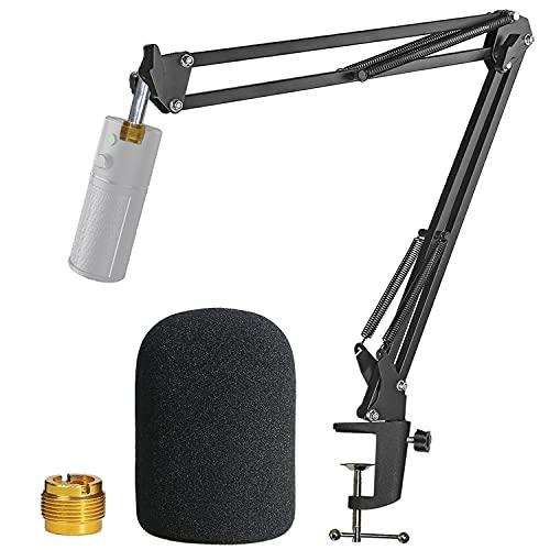 Pied de Micro Razer Seiren X avec Bonnette - Bras de Micro avec Anti Pop en Mousse pour Microphone Razer Seiren X par YOUSHARES