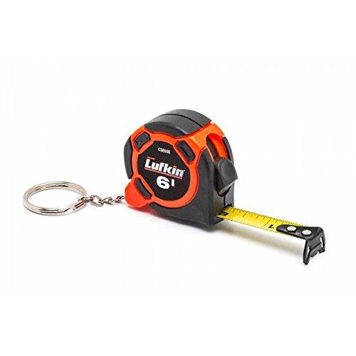 "Crescent Lufkin 1/2"" x 6' Mini Hi-Viz Orange Yellow Clad Keychain Tape Measure - Counter Display - CS8506"