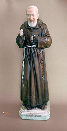 Statua Padre Pio 'benediocente' cm60 in resina