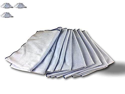 Kibros SERPMICF10 - Lote de 10 mopas de microfibra para suelo | Juego de 3 | Lavante y desengrasante | Ultra absorbente y recurrente
