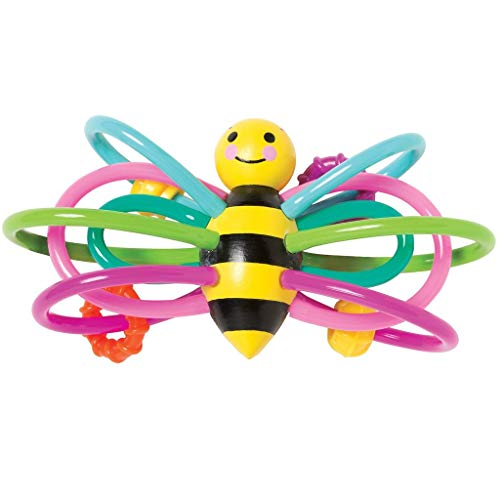 Manhattan Toy Winkel Bee Hochet et anneau de dentition Sensorielle bébé jouet