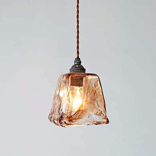 Lebd - Lámpara de techo de cristal, diseño nórdico, para salón, entrada, restaurante, dormitorio, dormitorio, mesita de noche, iluminación de bares, 11 cm de diámetro, cómoda