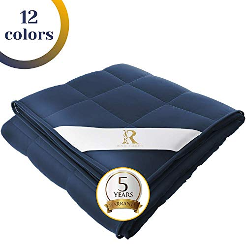 Royal Therapy Weighted Blanket Adult & Kids Bed (15lb, 48x78