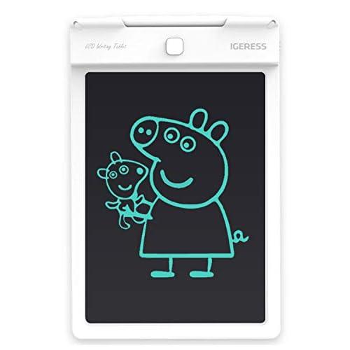 IGERESS più Nuovo Bianco da 9 Pollici LCD Scrittura Tablet elettronico da Tavolo Digitale da Disegno tavoletta Grafica Tablet Durevole (Bianco) …