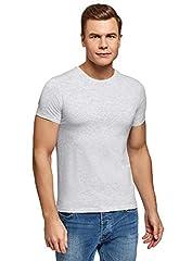 oodji Ultra Hombre Camiseta Básica