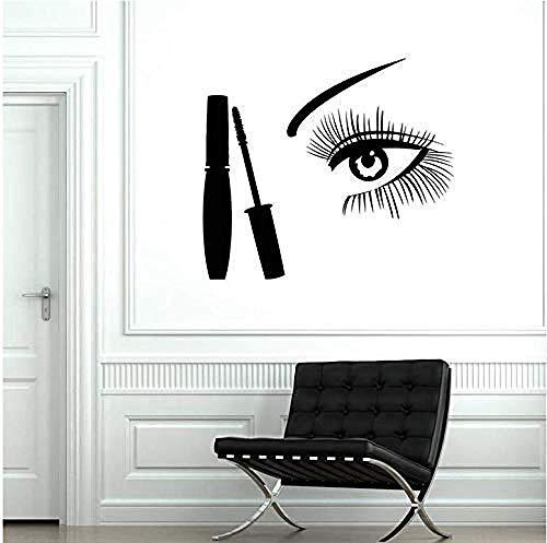 Wandsticker Auge Wandtattoo Makeup Wimpern Augenbrauen Schönheitssalon Design Dekoration...