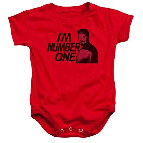 Star Trek - - Toddler Im Number One Onesie, 24 Months, Red