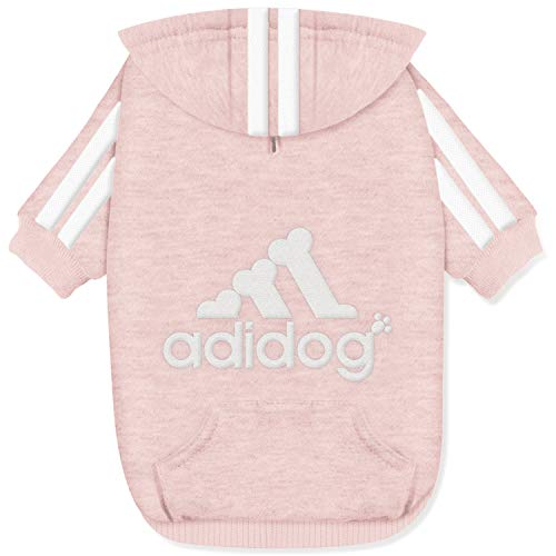 Gootailor Adidog Pet Clothes for Small Dogs Cute Dog Hoodies Puppy Sweater Warm Sweatshirt Pink Large