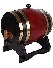 Qujifangjt Barriles De Roble, Barriles De Vino, Barriles, Barriles, Sidra, Whisky, Barriles Decorativos, 5 litros. (Color : Rojo)
