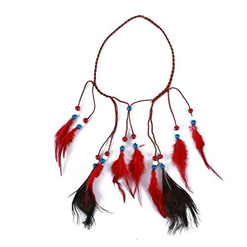 Perles de plume indienne Bandeau Photographie sur la plage Vacances Jour férié Boho Hippie Coiffe Headpiece Utile et pratique
