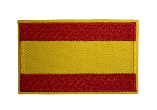 Gemelolandia   Aufnäher Spanien Flagge 8 x 5 cm   Originelle Geschenke   Aufnäher, Manschettenknöpfe, Schlüsselanhänger & Mehr   Für Hochzeiten, Taufen & Besondere Anlässe