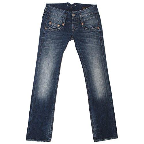 Herrlicher, Pitch Straight, Damen Jeans Hose, Stretchdenim, medium Blue, W 25 L 30 [19919]