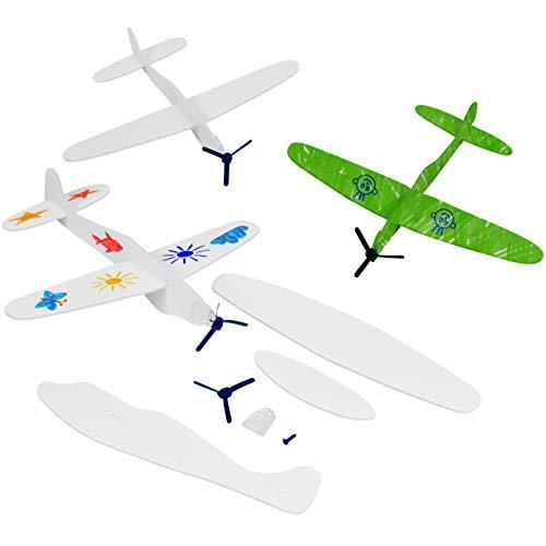 THE TWIDDLERS 24 Aviones Planeadores - Colorear y Montar| Niños Juguetes Favores de Fiesta