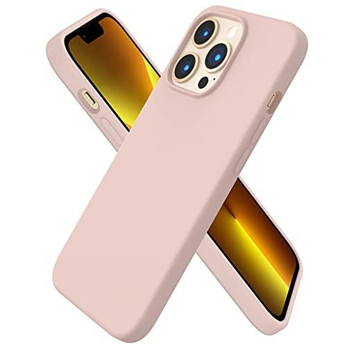 ORNARTO kompatibel mit iPhone 13 Pro 6,1 Silikon Hülle, Hülle Ultra Dünne Voller Schutz Flüssig Silikon Handyhülle Schutz für iPhone 13 Pro (2021) 6,1 Zoll-Einfarbiges Rosa