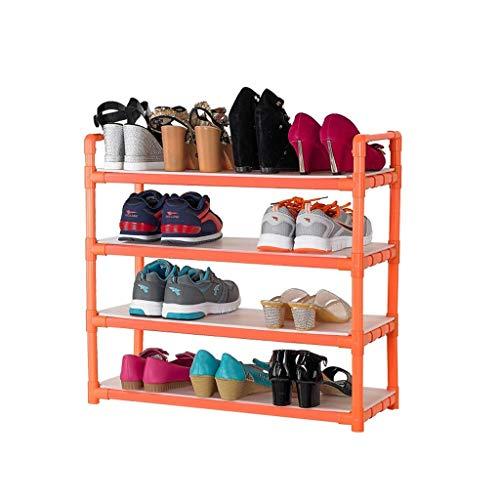 GCE Zapatero Puerta de plástico Estante Impermeable Necesita ensamblar Naranja Mantener ordenado (Tamaño: 66 * 28 * 75 cm)