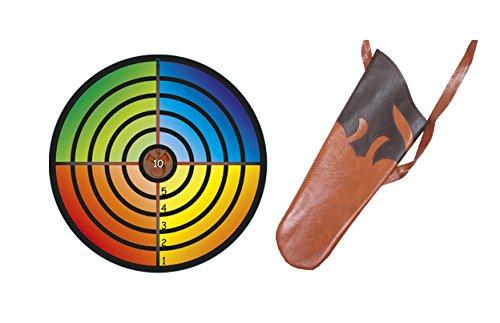 Holzspielerei Zielscheibe bunt für Saugnapf & Köcher für Pfeile Kinder Set (Zielscheibe bunt)