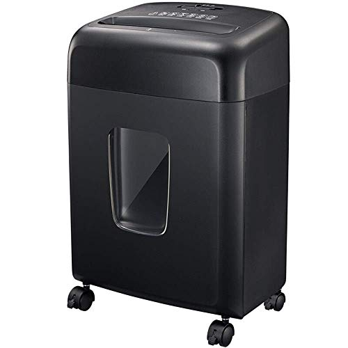 Shredder Shredder Small Office Consumer And Commercial A4 Paper Shredder Portable Office Paper File 15L Drawing Paper Barrel Shredder Personal Shredder (Color : Black, Size : 33.5x23x45.5cm)