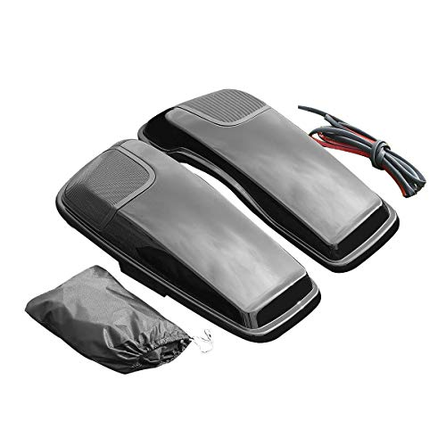 ZXMOTO Unpainted Hard Saddlebags Luggage with Lids Fit for Touring Models 1994-2013 1995 1996 1997 1998 1999 1 Pair