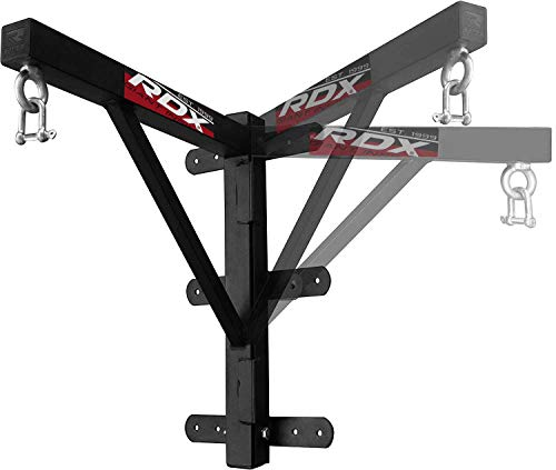 RDX MMA - Fijación para saco de boxeo, montaje en suspensión, gancho para pared o techo., negro