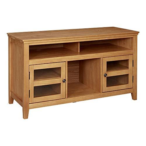 Ravenna Home Classic Solid Wood Media Center, 47.87'W, Rustic Honey Pine