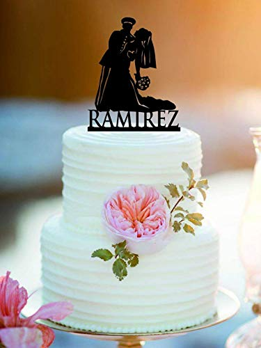 Customized Military Wedding Cake Topper/Army Wedding Cake Topper