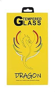شاشة حماية لاصقة زجاج خماسية الابعاد مقاومة لبصمات الاصابع لموبايل سامسونج جالاكسي A80 من دراجون - اسود وشفاف