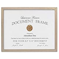 Lawrence Frames 8.5x11 Gray Wood Certificate Gallery Collection Picture Frame [並行輸入品]