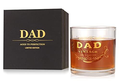 Idea perfecta como regalo para papá, hombres y padrastro, el mejor regalo de cumpleaños, 550 ml de gran capacidad para whisky, día del padre, día de San Valentín, jubilaciones de boda o Navidad