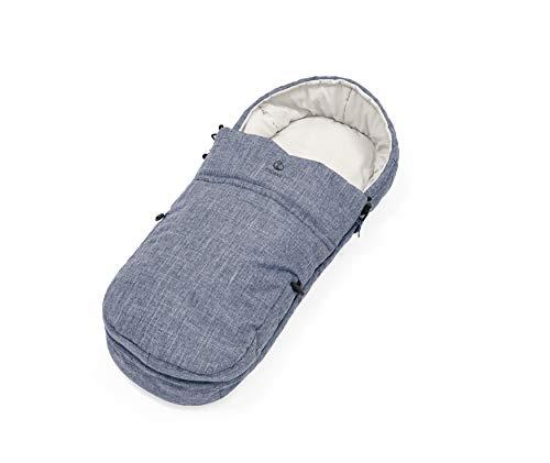 STOKKE® Softbag für Kinderwagen - wärmender Fußsack für Babys - Farbe: Blue Melange
