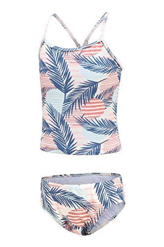 Traje de baño para niña, tankini de dos piezas, traje de baño floral para niñas de 3 a 16 años, Hojas de palma., 5-6 Años