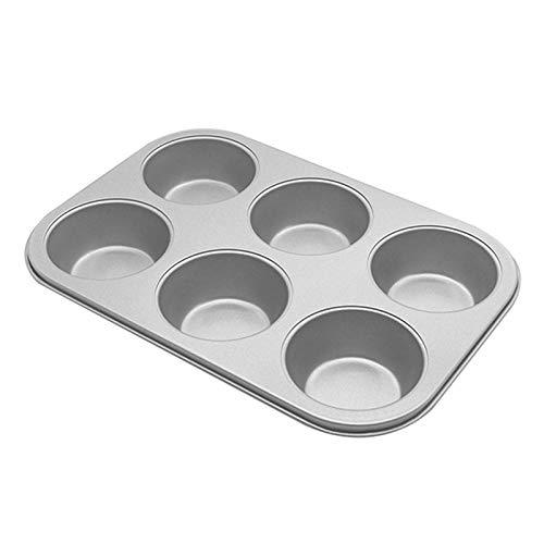 Fugift 6/12 Cúps Muffinform, ungiftig, nicht rostend, Karbonstahl, Cúpcake Backformen für die Herstellung von Maisbrot, Quiche, spülmaschinenfest, Kochutensilien