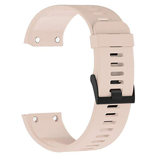 Wenken Bracelet Montre réglable Remplacement Unisexe Accessoires TPE Intelligent coloré Boucle ardillon Mode Bracelet Poignet Sport décocté pour Garmin Forerunner 35(Café léger)