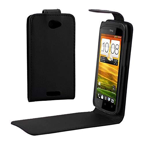 JIANWU Case Cover in Pelle Flip Phone Custodia in Pelle di Alta qualità for HTC One S (Z520e) (Nero)